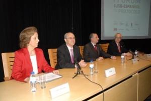 A mesa de presidência da sessão de abertura (Isabel Amaral, Rui Rio, Jorge Daniel Salvati e Rafael Vidal)